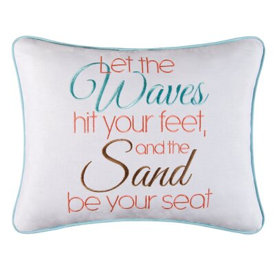Faizan Waves and Sand Cotton Throw Pillow