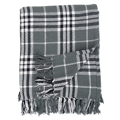 Henrietta Plaid Cotton Throw Color: Gray