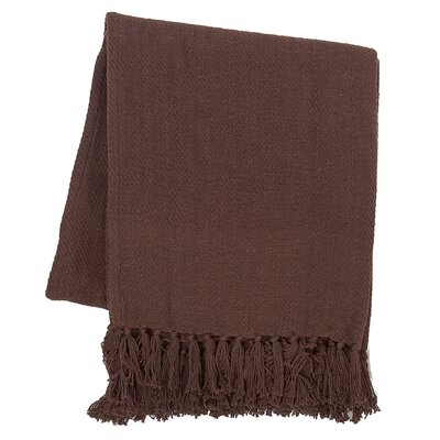Olban Cotton Throw Color: Cocoa