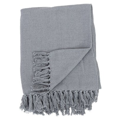 Olban Cotton Throw Color: Cement