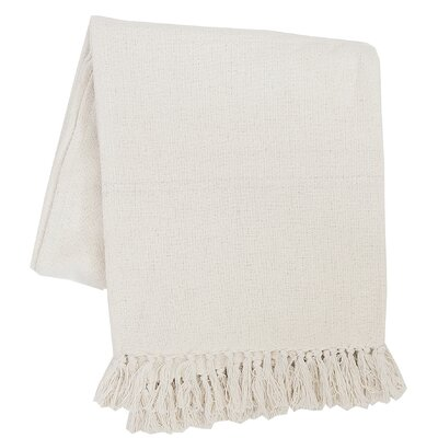 Olban Cotton Throw Color: Ivory