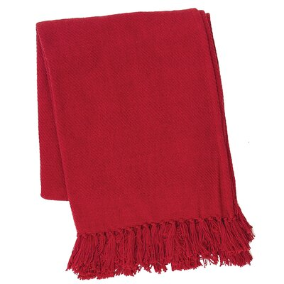 Olban Cotton Throw Color: Red