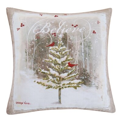 Kerstetter Believe Tree Throw Pillow