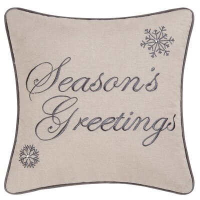 Abid Seasons Greetings Throw Pillow
