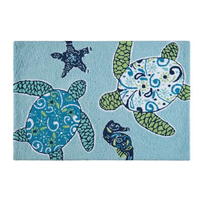 Kamal Coastal Blue Area Rug