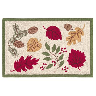 Romilly Leaves Fall Tan Area Rug