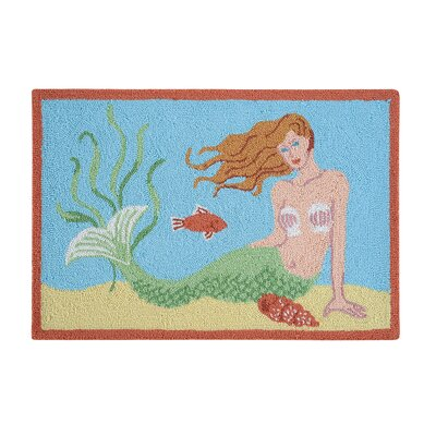 Niamh Mermaid Coastal Blue Area Rug