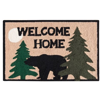 Farrah Welcome Home Rustic Tan Area Rug