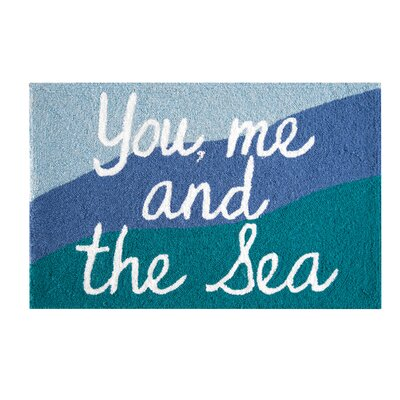 Regenia You Me and The Sea Coastal Blue Area Rug