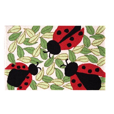 Guffey Ladybugs Parfait Red Area Rug