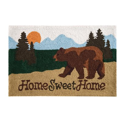 Farid Home Sweet Home Lodge Parfait Brown Area Rug