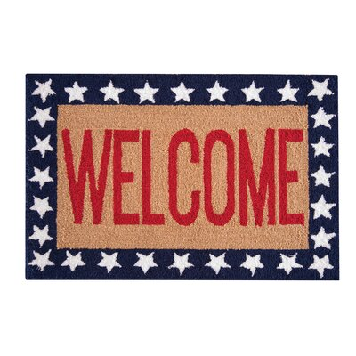 Barnstable Welcome Red/Blue Area Rug