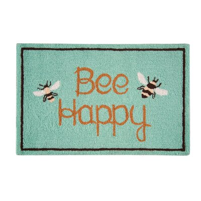 Finty Bee Happy Parfait Green Area Rug