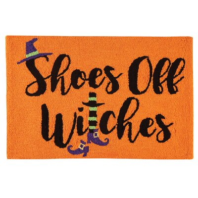 Shoes Off Witches Halloween Parfait Orange Area Rug