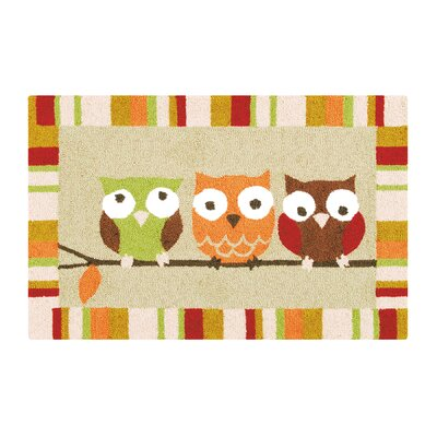 Balaban 3 Hoots Fall Tan Area Rug
