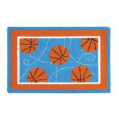 Dolson Basketball Sport Blue Area Rug