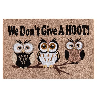 Blanmont We Dont Give A Hoot! Halloween Brown Area Rug