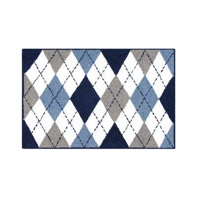 Hegwood Argyle Blue Area Rug