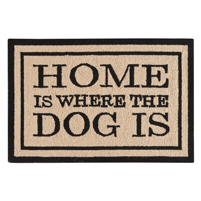 Horstman Home Is Where the Dog Is Wool Tan Area Rug