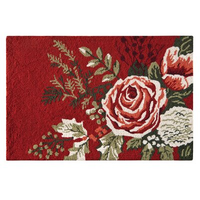 Holt Wool Red Area Rug