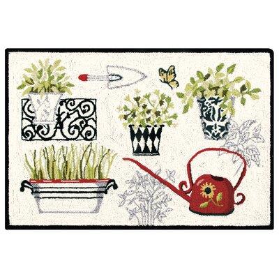 Mahala Herbs Wool Cream Area Rug