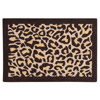 Rock Island Leopard Wool Brown Area Rug
