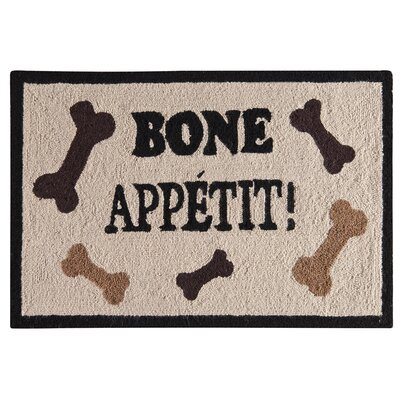Homer Bone Appetit Wool Tan Area Rug