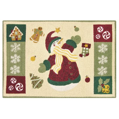 Winterland Fun Wool Tan Area Rug