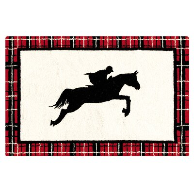 Germania Equestrian Wool Black Area Rug
