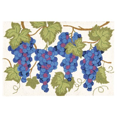 Holsworthy Grapes Wool Cream/Blue Area Rug