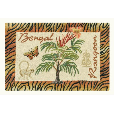 Rohnert Park Bengal and Rangoon Wool Brown Area Rug