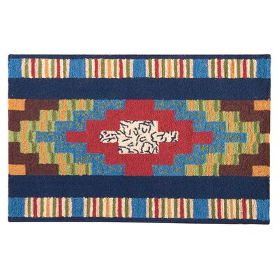 Hoopeston Wool Blue Area Rug