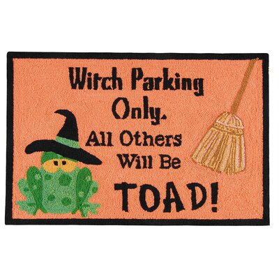Halloween Toad Black/Orange Area Rug