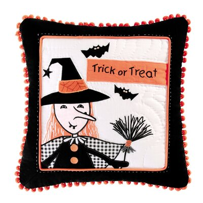Trick or Treat 100% Cotton Throw Pillow