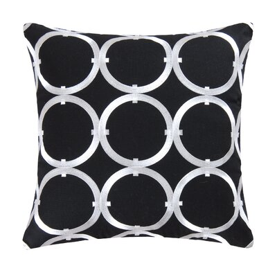 St George Circle 100% Cotton Throw Pillow Color: Black
