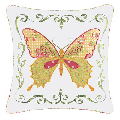 Alfreda Butterfly 100% Cotton Throw Pillow