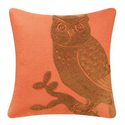 Allston Owl 100% Cotton Throw Pillow