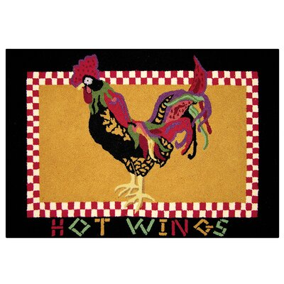 Basie Hot Wings Wool Tan Area Rug