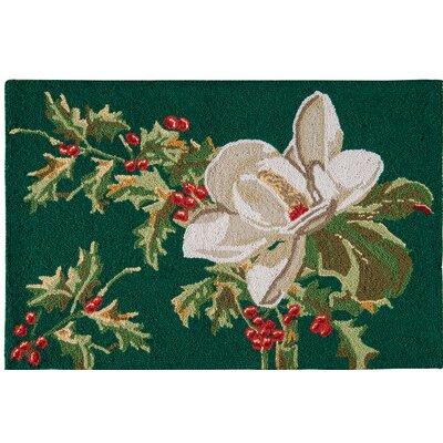 Armisen Magnolia Wool Green Area Rug