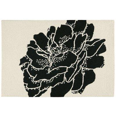 Bacchus Botanical Wool Black Area Rug