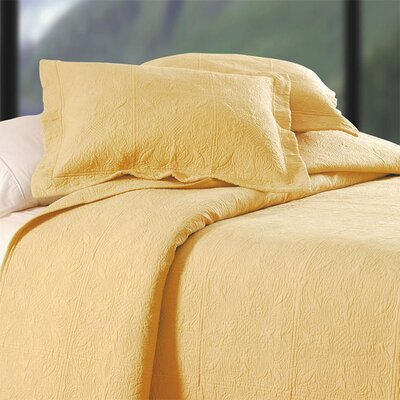 Jolie Bedding Matelasse Size: King, Color: Butter