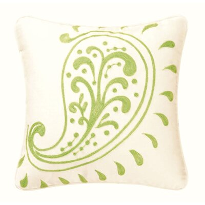 Samara Crewel Chain Stitch Cotton Throw Pillow