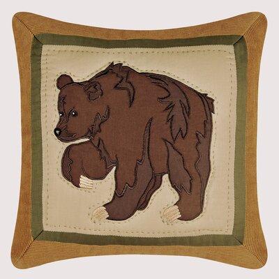 Burtondale Bear Quilt Cotton Throw Pillow
