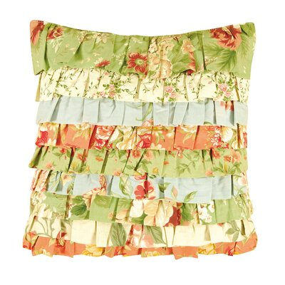 Lucinda Ruffled Cotton Throw Pillow
