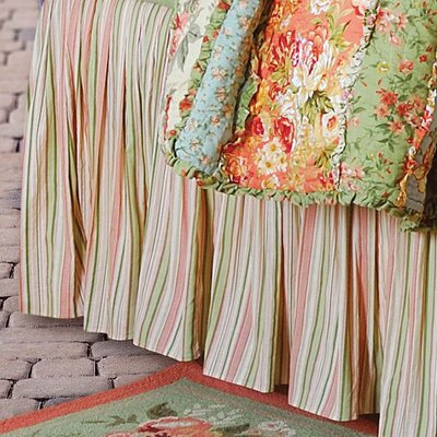 Lucinda Stripes Bed Skirt Size: King