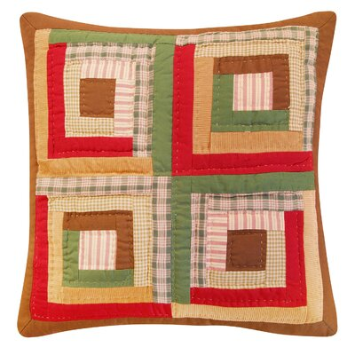 Oak Ridge Stripes Pine Cotton Throw Pillow