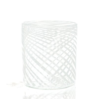 Swirl Glass Container Fruit Basket (set Of 2) Size: Small
