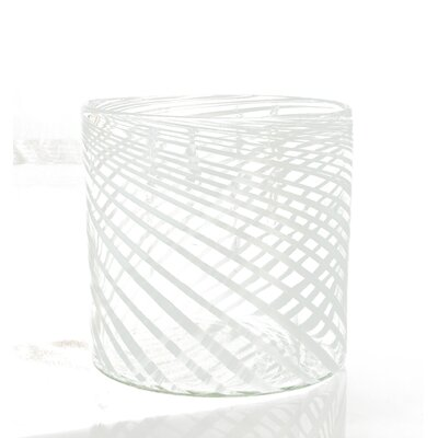 Swirl Glass Container Fruit Basket (set Of 2) Size: Medium