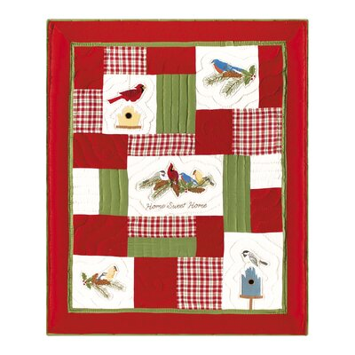 Feathered Holidays Quilted Throw