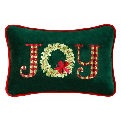 Joy Velvet Cotton Lumbar Pillow (Set of 2)